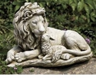 "Lion And Lamb Garden Statue 12""H"