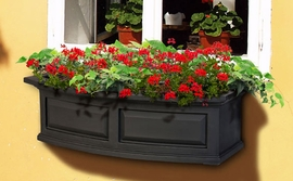 "Nantucket 36"" Window Box (Black)"