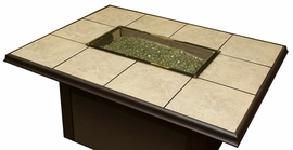 Napa Valley Rectangular Fire Pit Table
