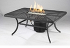 Night Fire Rectangular  Fire Pit Table