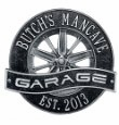 Racing Wheel Garage Plaque (2 lines)
