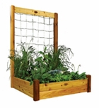 Raised Bed With Trellis 48x48x80 Safe Finish