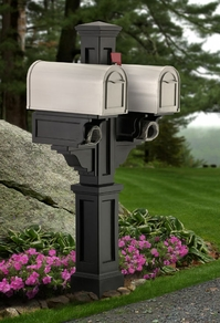 Rockport Double Mailbox Post (Black)