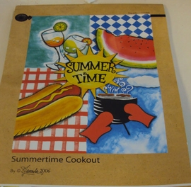 Summertime Cookout Large Flag 40""