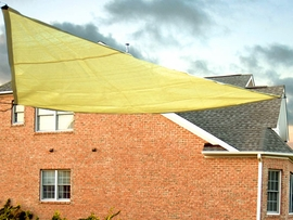 Triangle Sun Shade Sail 10' (Yellow)