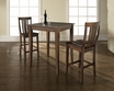3-Pc Pub Dining Set w/ Cabriole Leg & Shield Back Stools in Mahogany - Crosley - KD320002MA