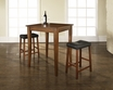 3-Pc Pub Dining Set w/ Cabriole Leg & Upholstered Saddle Stools - Crosley - KD320004CH