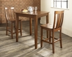 3-Pc Pub Dining Set w/ Tapered Leg & Shield Back Stools - Crosley - KD320006CH