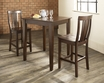 3-Pc Pub Dining Set w/ Tapered Leg & Shield Back Stools - Crosley - KD320006MA