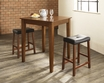 3-Pc Pub Dining Set w/ Tapered Leg & Upholstered Saddle Stools - Crosley - KD320008CH
