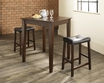 3-Pc Pub Dining Set w/ Tapered Leg & Upholstered Saddle Stools - Crosley - KD320008MA