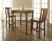 3-Pc Pub Dining Set w/ Turned Leg & Shield Back Stools - Crosley - KD320010CH