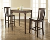 3-Pc Pub Dining Set w/ Turned Leg & Shield Back Stools - Crosley - KD320010MA