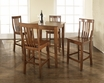 5-Pc Pub Dining Set w/ Cabriole Leg & School House Stools in Cherry - Crosley - KD520003CH