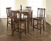 5-Pc Pub Dining Set w/ Cabriole Leg & School House Stools in Mahogany - Crosley - KD520003MA