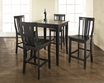 5-Pc Pub Dining Set w/ Cabriole Leg & Shield Back Stools in Black - Crosley - KD520002BK