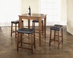 5-Pc Pub Dining Set w/ Cabriole Leg & Upholstered Saddle Stools - Crosley - KD520004CH