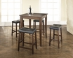 5-Pc Pub Dining Set w/ Cabriole Leg & Upholstered Saddle Stools - Crosley - KD520004MA