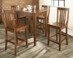 5-Pc Pub Dining Set w/ Tapered Leg & School House Stools - Crosley - KD520007CH