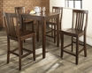 5-Pc Pub Dining Set w/ Tapered Leg & School House Stools - Crosley - KD520007MA