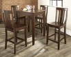 5-Pc Pub Dining Set w/ Tapered Leg & Shield Back Stools - Crosley - KD520006MA