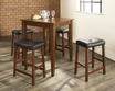 5-Pc Pub Dining Set w/ Tapered Leg & Upholstered Saddle Stools - Crosley - KD520008CH