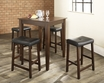5-Pc Pub Dining Set w/ Tapered Leg & Upholstered Saddle Stools - Crosley - KD520008MA