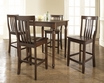 5-Pc Pub Dining Set w/ Turned Leg & School House Stools - Crosley - KD520011MA