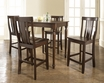 5-Pc Pub Dining Set w/ Turned Leg & Shield Back Stools - Crosley - KD520010MA
