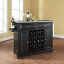 Alexandria Granite Top Wine Island in Black - Crosley - KF31003ABK