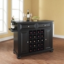 Alexandria Granite Top Wine Island in Black - Crosley - KF31004ABK