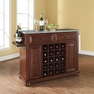 Alexandria Granite Top Wine Island in Mahogany - Crosley - KF31003AMA
