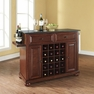 Alexandria Granite Top Wine Island in Mahogany - Crosley - KF31004AMA