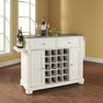 Alexandria Granite Top Wine Island in White - Crosley - KF31003AWH