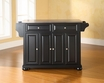 Alexandria Kitchen Island in Black - Crosley - KF30002ABK