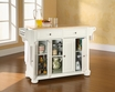 Alexandria Kitchen Island in White - Crosley - KF30001AWH