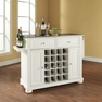 Alexandria Stainless Steel Wine Island in White - Crosley - KF31002AWH