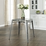 Amelia Metal Cafe Table in Galvanized - Crosley - CF220130-GA