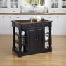 Americana Black Kitchen Island w/ Granite - Home Styles - 5091-94