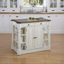 Americana White Kitchen Island w/ Granite - Home Styles - 5090-94