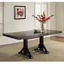 Antique Black Wood Dining Table - Walker Edison - TW60WBL