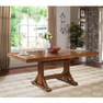 Antique Brown Wood Dining Table - Walker Edison - TW60WAB