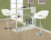 Bar Table Glossy White 48 inches - Monarch - I 2350