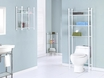 "Bathroom Accent 33"" in White Metal w/ Tempered Glass - Monarch - I 3424"