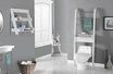 Bathroom Accent in White w/ Space Saver - Monarch - I 3437