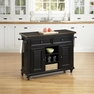 Bermuda Black Kitchen Cart - Home Styles - 5588-95