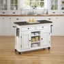 Bermuda Brushed White Kitchen Cart - Home Styles - 5543-95