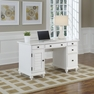 Bermuda Brushed White Pedestal Desk - Home Styles - 5543-18
