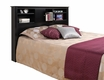 Black Bookcase Headboard w/ Doors - PREPAC - BHFX-0302-1