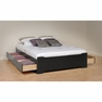 Black Full Platform Storage Bed w/ 6 Drawers  - PREPAC - BBD-5600-3KV